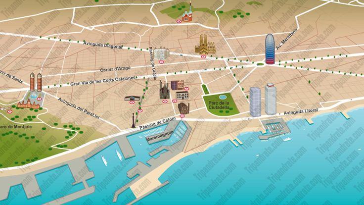 Barcelona tourist map