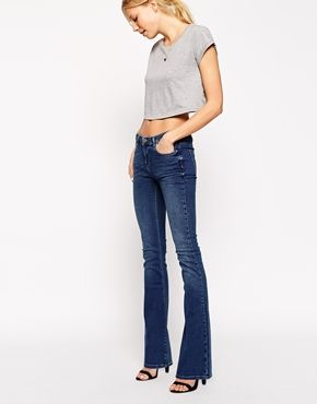 Enlarge ASOS Baby Kick Flare Jeans in Boston Mid Wash