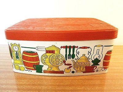 vintage willow australia large cake tin storage canister. Black Bedroom Furniture Sets. Home Design Ideas