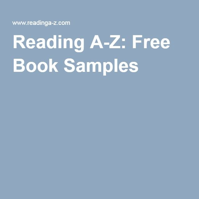 Reading A-Z: Free Book Samples