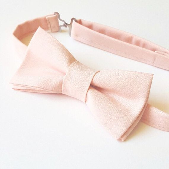 Blush Bow tie for men, Men's light pink bow tie - Pink Bow tie by Flytiesforflyguys.etsy.com