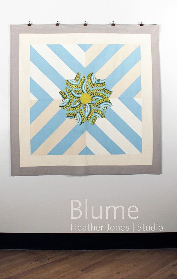 Blume a PDF modern quilt pattern by Heather by HeatherJonesStudio