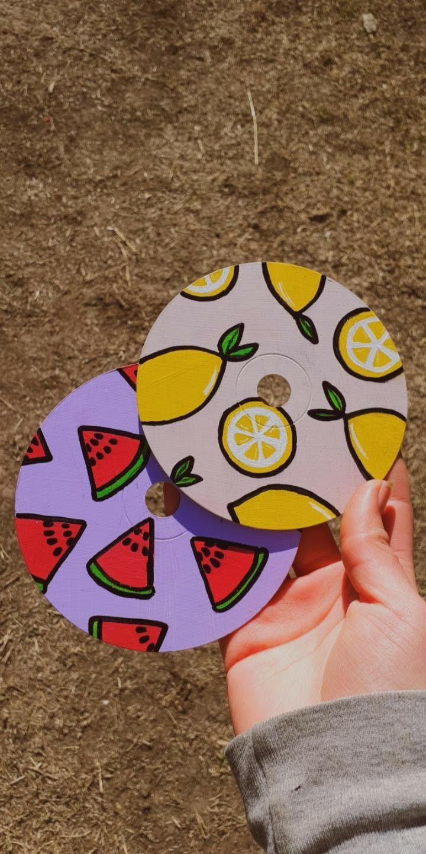CDs pintados; limon y sandía in 2020 Vinyl record art