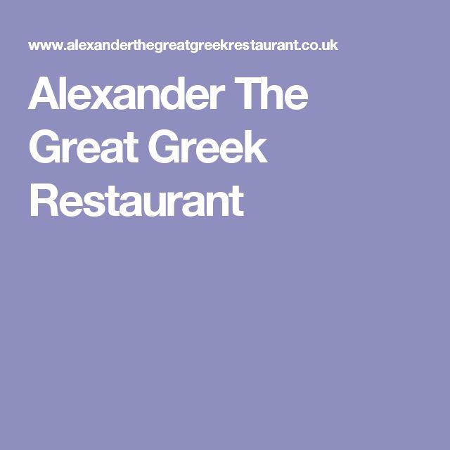 Alexander The Great Greek Restaurant
