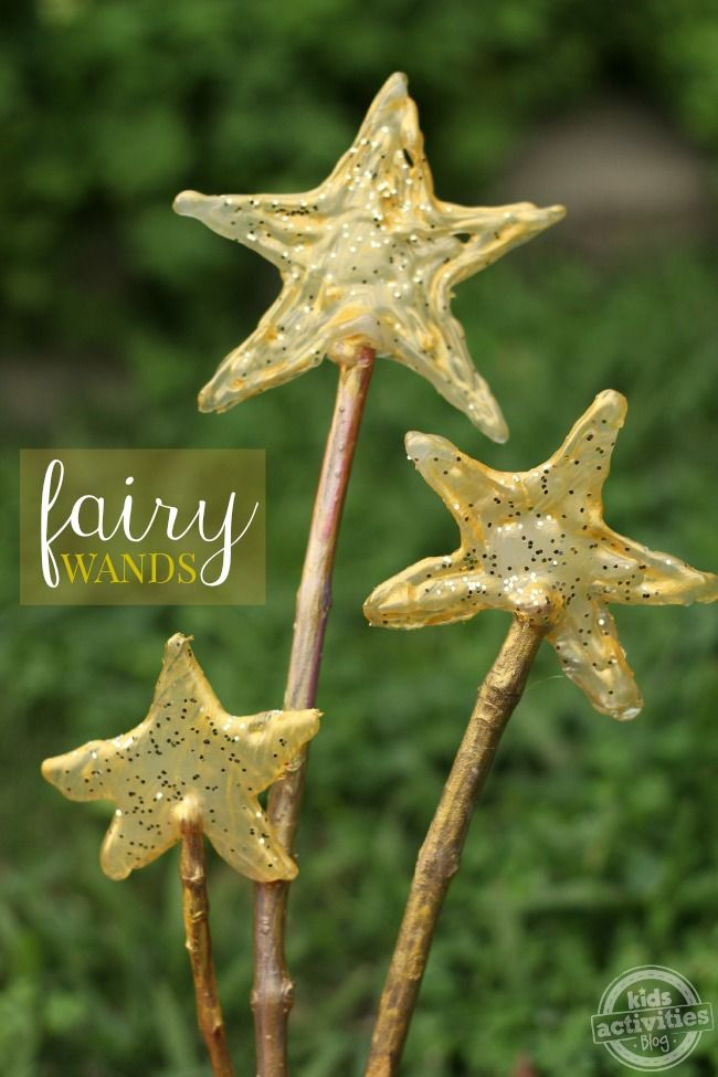 How to make easy fairy wands - what a fun kids craft!