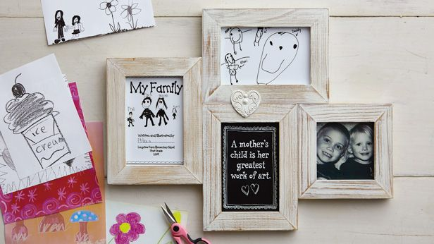 Mother's Day Gift Ideas: Artistic Family Collage Frame and Free Printables #Hallmark #HallmarkIdeas