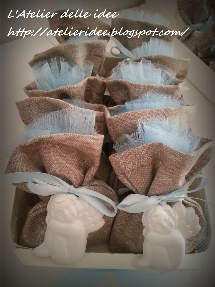 Bomboniere BATTESIMO polvere di ceramica profumata