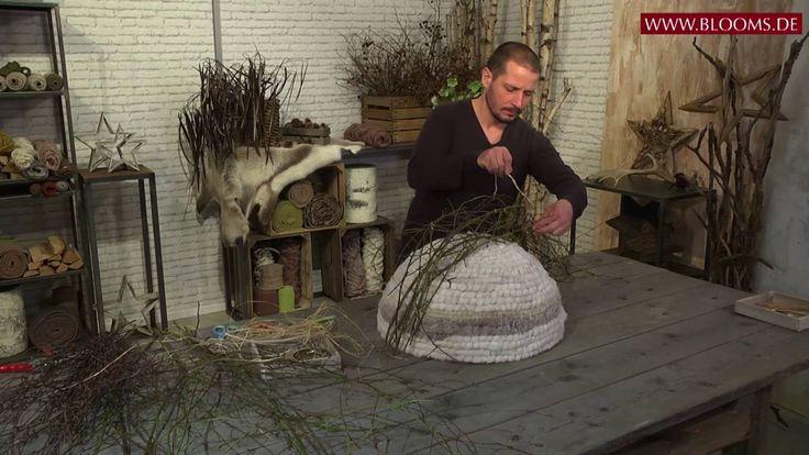 Ein neuer, cooler Look für Winterfloristik: Frosted-Wool-Iglu