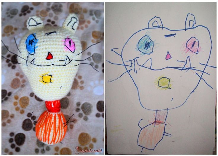 Kototwór z rysunku :) / crochet drawing :)