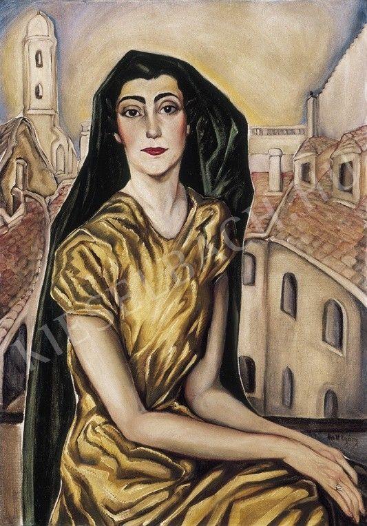 Batthyány Gyula - Fiatal nő keleti városban | 19. Aukció aukció / 155 tétel