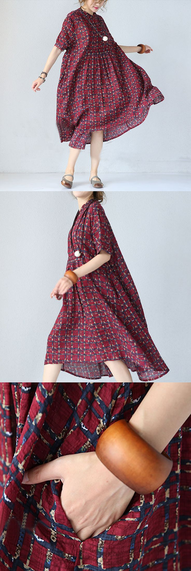 Bang!!! Perfect dress for change ur morning mood.It's a kinda of Bohemian style with pure linen&cotton material.Floral printed red long dress ,soo refreshing look.Do u think so? wanna hava a try.welcome to buykud.com