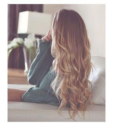 Long blond hair