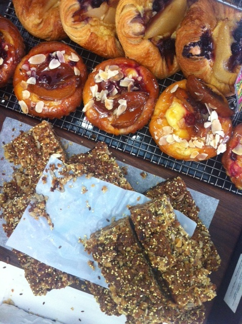 Health Bars and Peach Brioche! YUM only at The Cook and Baker, Bondi Junction Sydney.