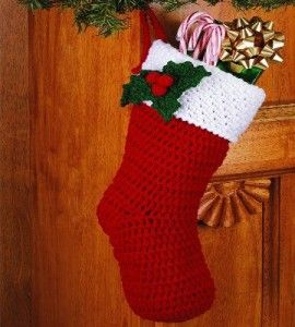 Crocheted Holly Stockings | Crocheting Crafts | Christmas Crafts — Country Woman Magazine