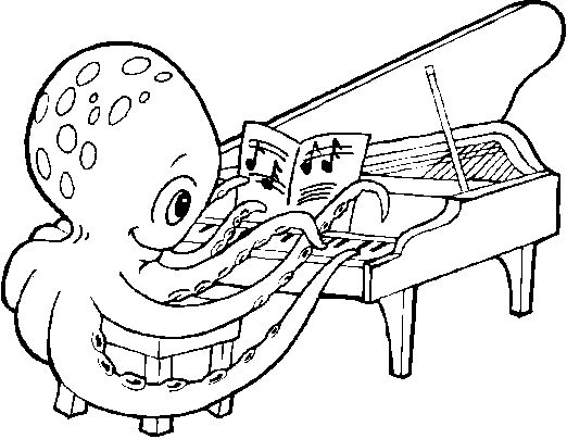 free printable piano coloring pages for kids