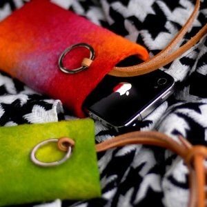 Evouni Handemade Felt Pouch for iPhone, iPod