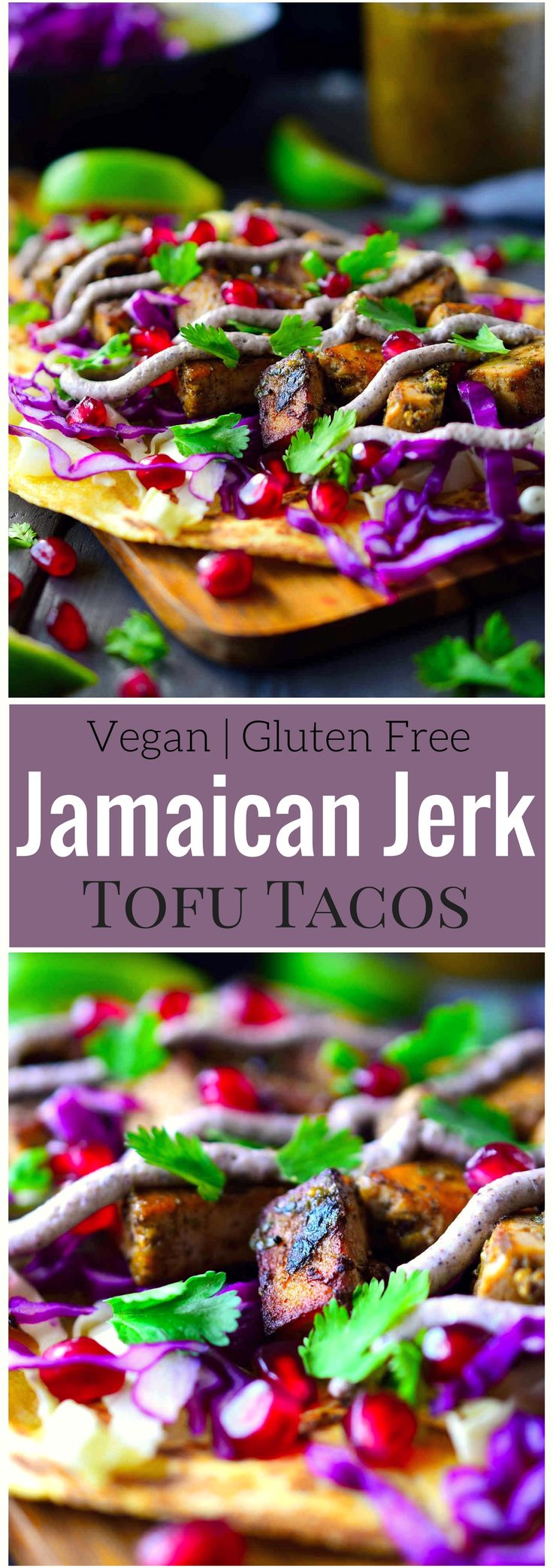 These colourful vegan Jamaican jerk tofu tacos are easy, delicious and bursting with a complex mix of flavours and textures. Simply marinate some tofu in an easy blender wet Jamaican jerk seasoning, fry them up and add your favorite toppings. These vegan tacos are so delicious you won't be able to get enough!