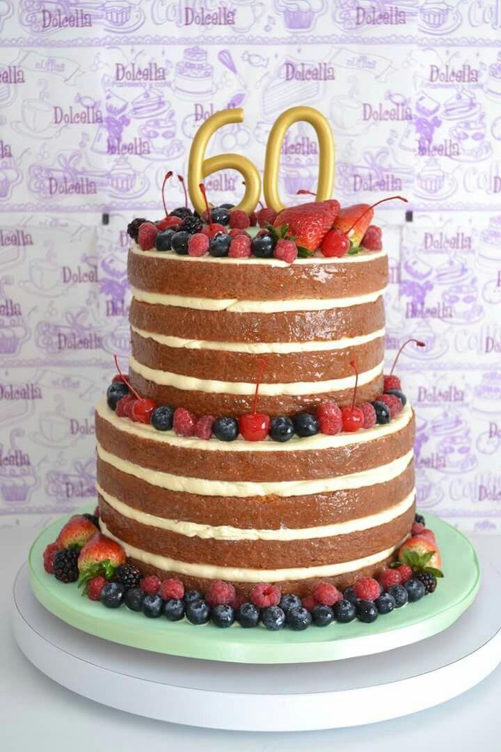 NaKed cake frutos rojos   @dolcella_pastelería