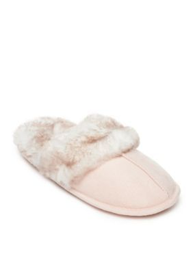 Jessica Simpson Women's Microsuede Slippers - Pink - Xl