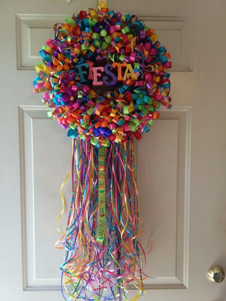 Fiesta ribbon wreath 2016