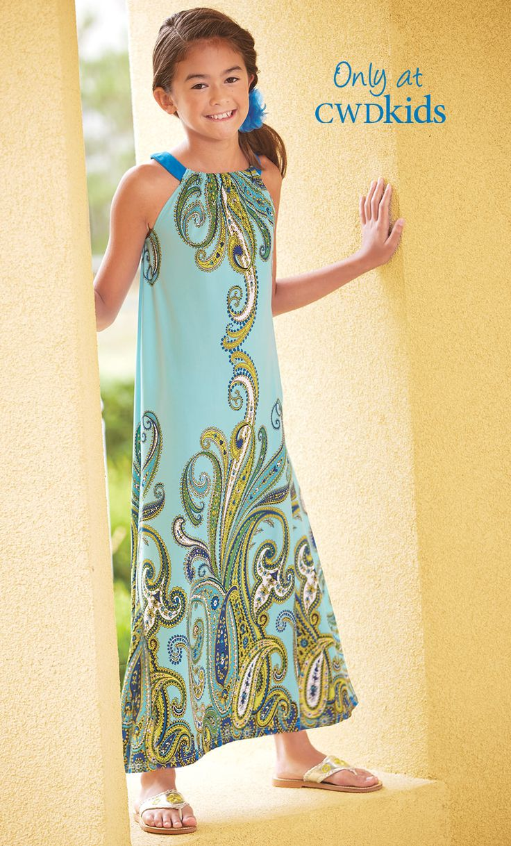 From CWDkids: Paisley Maxi Dress