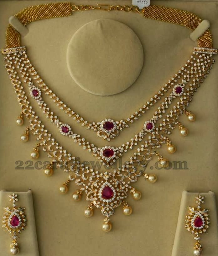 Jewellery Designs: Spectacular Diamond Set