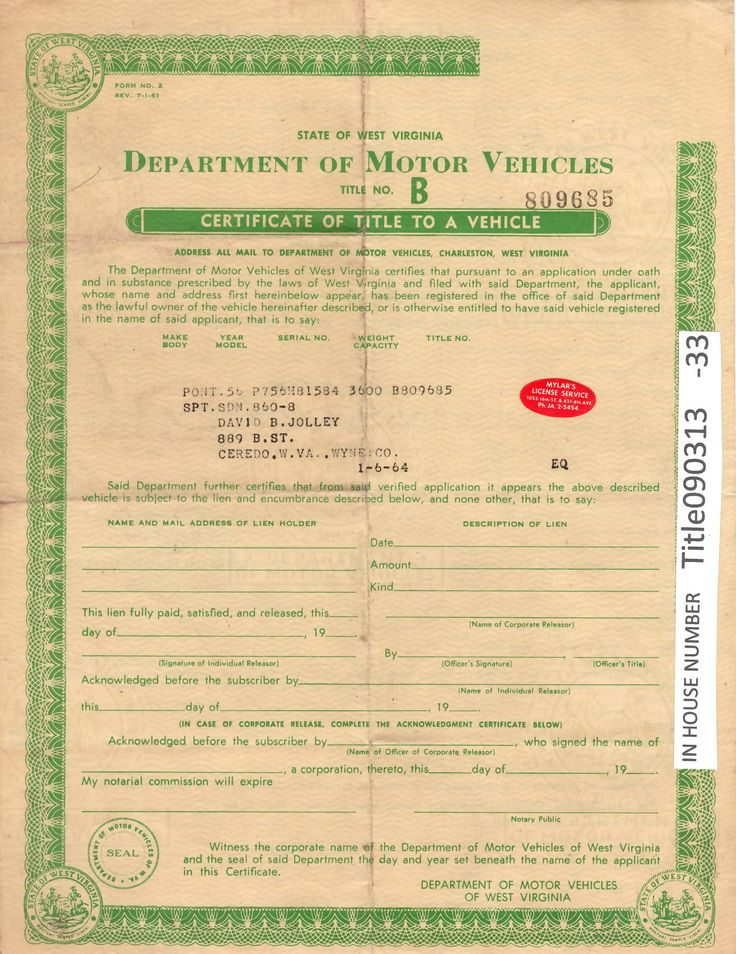 VINTAGE 1956 Pontiac SPT. SDN. 860-8 Auto Title Only Historical Document from W…