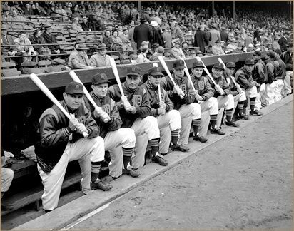 The Detroit Tigers, Opening Day, 1951.....cool photo!