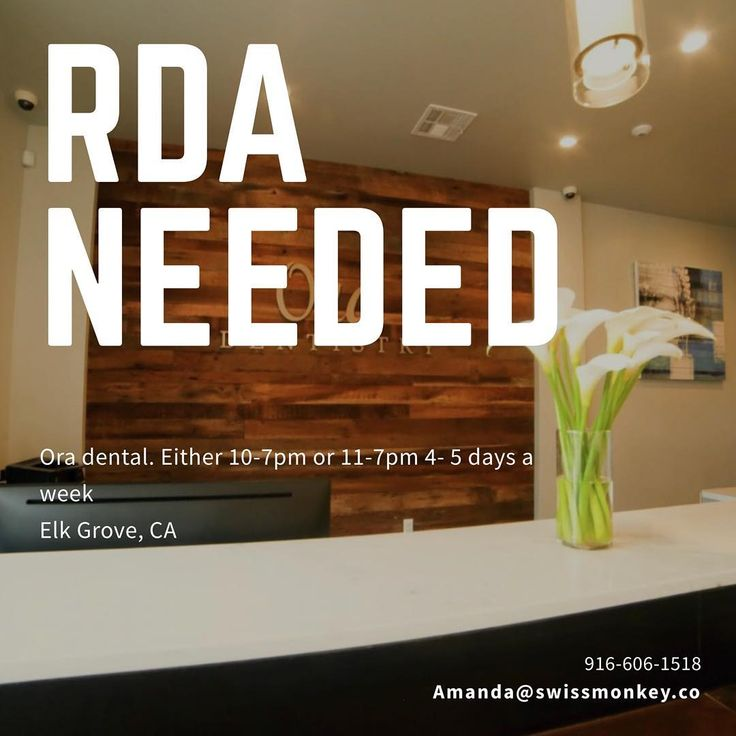 Absolutely gorgeous office in El Grove needs an RDA. Position can be either 4 or 5 days. Message for details! #elkgrove #teeth #dental #dentalassistant