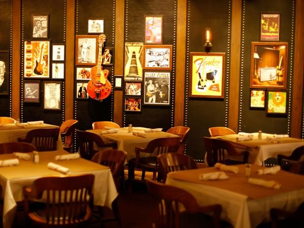 "Guy Fieri's NYC Restaurant : A private room in the restaurant called ""The Studio."""