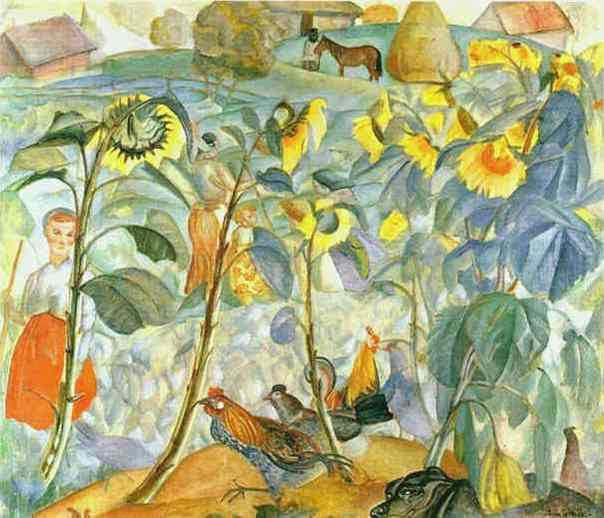 Boris Grigoriev - Sunflowers
