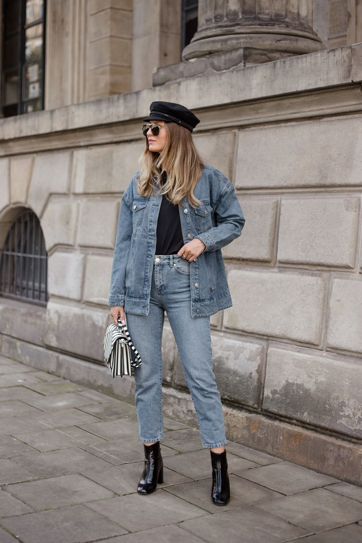 Le Specs Liberation Sunglasses, Steve Madden Posed Boots, Denim Jacket, Mom  Jeans,