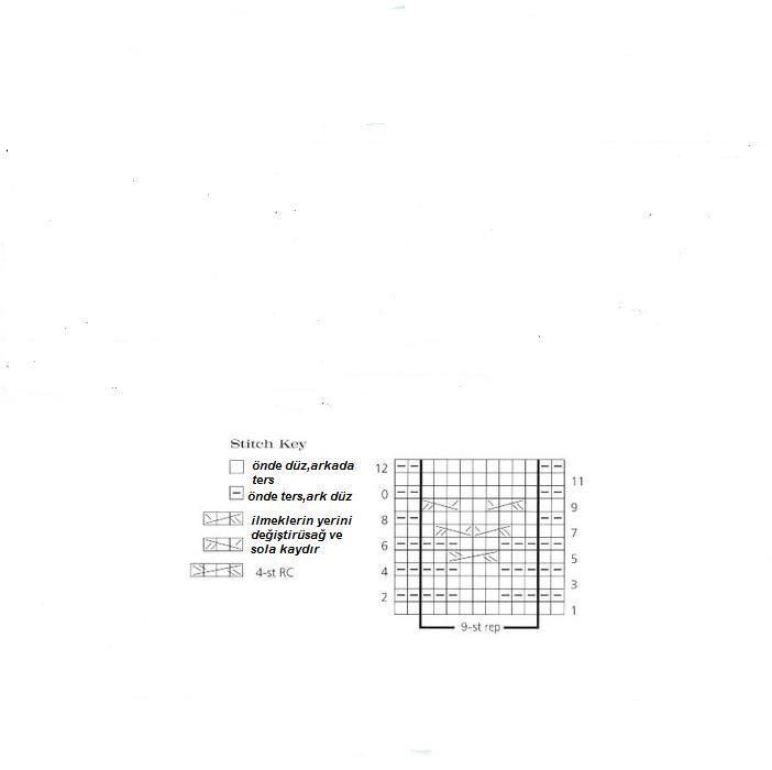 Modern ve kolay Örgü boyunluk modelleri yapılışı ( şemalı ve anlatımlı )