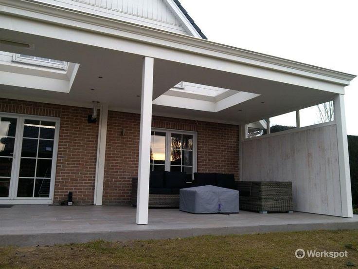 houten veranda met glazen dak - Google zoeken
