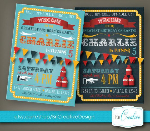 Hey, I found this really awesome Etsy listing at http://www.etsy.com/listing/159576950/carnival-birthday-invitation