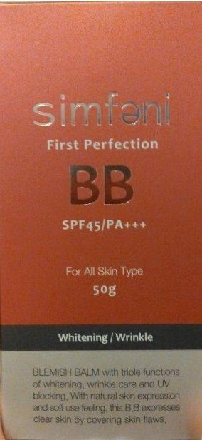 SIMFENI FIRST PERFECTION BLEMISH BALM SPF 45/PA Korean Cosmetic BB Cream