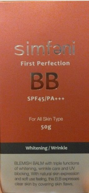 SIMFENI FIRST PERFECTION BLEMISH BALM SPF 45/PA Korean Cosmetic BB Cream