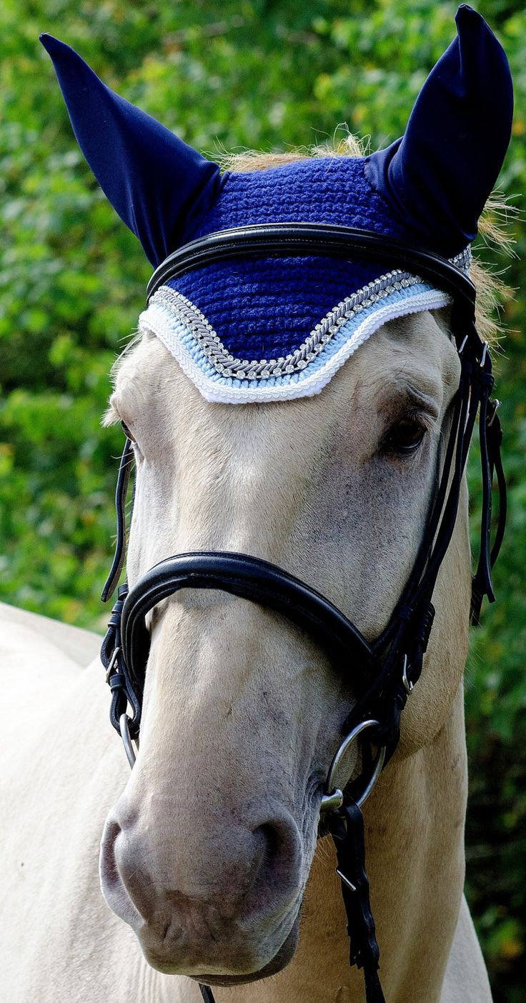 Light Blue/Gray/White Horse Fly Bonnet by ImperialBonnets on Etsy