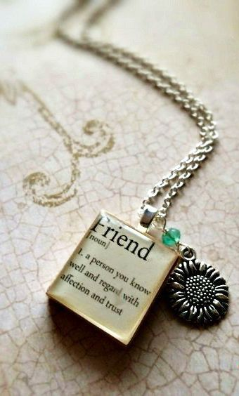 Friend Sterling Silver Scrabble Tile Necklace