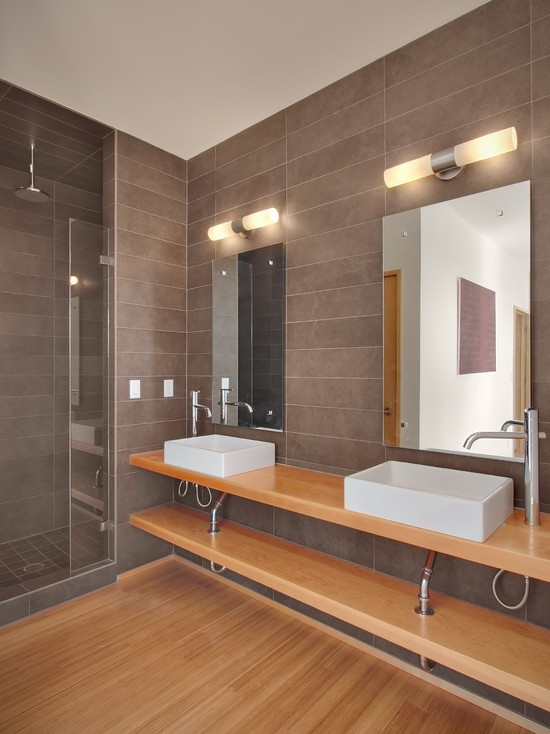 Modern Bathroom Gray And Brown Bathrooms Design, Pictures, Remodel, Decor and Ideas - page 50
