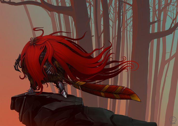 """""""Красный колдун"""" """"Red wizard"""" #Zhilin_art"""