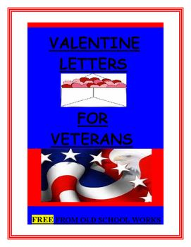 "FREE product. Useful activity to practice letter writing and to send thanks to veterans on Valentines Day. This product is designed with the information from ""A Million Thanks."" The directions and templates that are included follow the website directions for finished letters. ****************************************************************These templates would also work if you would rather send your Valentines to local Veterans homes, hospitals or organizations.************************..."