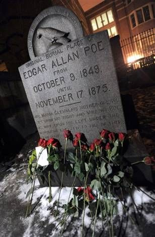 Crazy he was actually born Born: January 19, 1809, Boston, MA Died: October 7, 1849, Baltimore, MD weird
