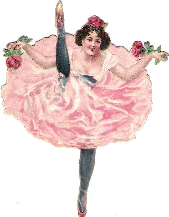 Oblaten Glanzbild scrap die cut chromo Dame Ballett Ballerina lady girl Tänzerin: