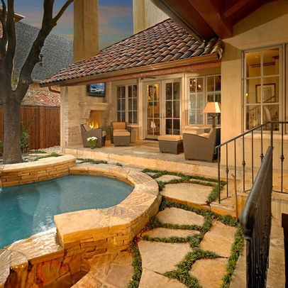 12 best pool images on pinterest outdoor living for Country pool ideas