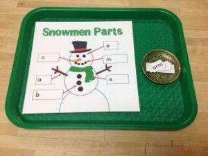 Snowman Parts - lots of snowman activities for pre-writing, math, sequencing...