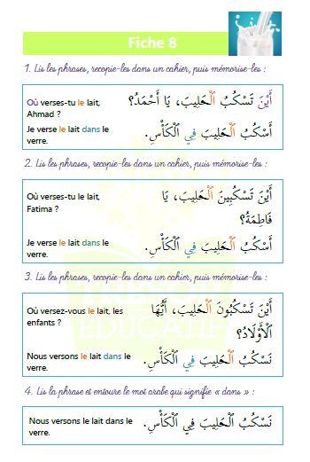 Initiation à la grammaire et à la conjugaison arabe – Trésor éducatif