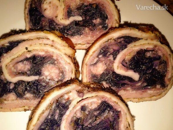 Rolka z bravčového boku plnená červenou kapustou (fotorecept) - Recept