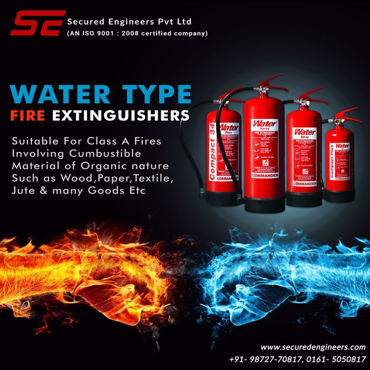 Learn about the different #types of #fire #extinguishers and what they are used for from #Secured #Engineers.