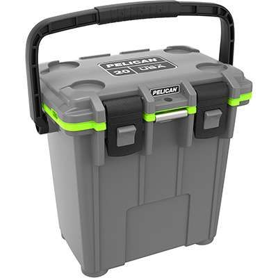 This Pelican 20 Quart Dark Grey/ Green 20Q 1 DKGRYEGRN Elite Cooler is effective and easy to use, no matter where you choose to take it. This 20 quart Pelican cooler is insulated with polyurethane foam, which means that it offers ice retention for up to three days, meaning your drinks will stay crisp and cold during the entire game! #workingperson #brandsthatwork #Pelican #cooler #football #footballseason #tailgate #tailgating…